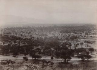 Burma. View Of The 450 Pagodas, Mandalay, Showing Shan Hills In Distance