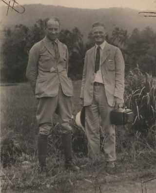 "Prof. L.F. De Beaufort And F.R.C. Jr, ""On The Equator"", Sumatra [Indonesia"