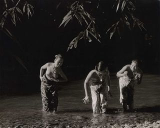 Women And Girls Bathing At A River, Borneo]. K F. Wong, Malaysian