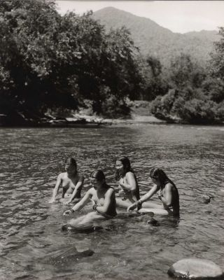 [Women And Girls Bathing At A River, Borneo]