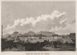 View Of Macao In China. After Gaspard Duché de Vancy, French