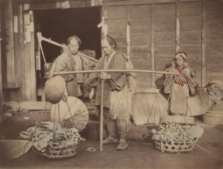 Two Vegetable Sellers, Japan