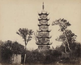 Pagoda Near Shanghai. F. Frith, Co, est. 1859 Brit.