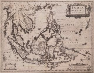Indiae Orientalis, Nova Descriptio [Dutch Map Of The East Indies]. Johannes Janssonius, 1588- 1664 Dutch.
