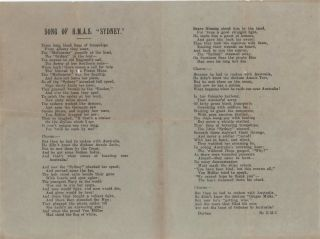 "Song Of HMAS ""Sydney"" [Verse]. Ethel Campbell, South African"
