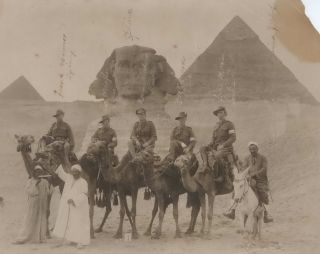Australian Soldiers With Sphinx, Giza, Egypt