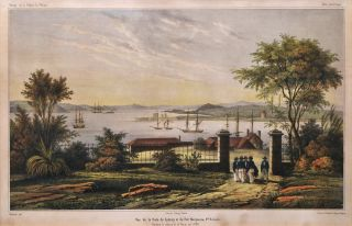 Vue De La Rade De Sydney Et Du Fort Macquarie, N'lle Hollande (View Of Sydney Harbour And Fort...