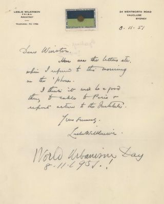 Collection Of Correspondence Received By Denis Winston, Architect