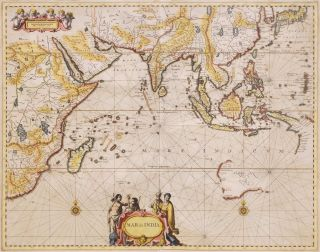 Mar Di India. Johannes Janssonius, Dutch