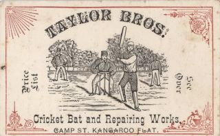 Frank Jesse Taylor, Maker Of Cricket Bats, And His Family, Victoria