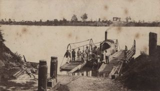 The Grafton Steam Punt. Attrib. Josiah Stevenson, c1830- 1894 Aust