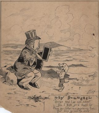 Dry Doggerel [George Reid, PM]. Livingston Hopkins, American/Aust.