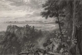 View Of Port Bowen, From The Hills Behind The Watering Gully. After William Westall, British