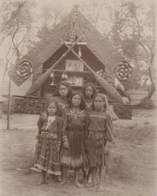 Maori Women And Children
