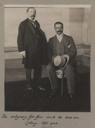The Outgoing Gov. Gen. And The New One [Governors General Henry Stafford Northcote And William...