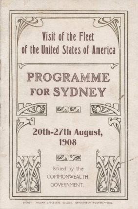 Souvenirs Of Visit Of American Fleet To Australia And New Zealand