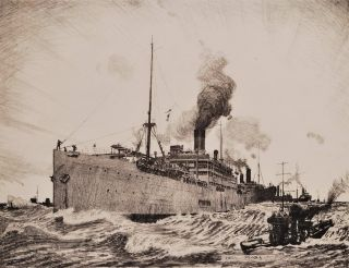 Transport By Sea: Transporting Troops. Charles Pears, British