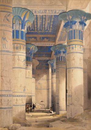 View Under The Grand Portico, Phila [Egypt]. David Roberts, British.