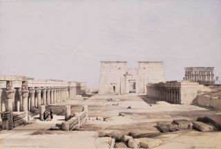 Grand Approach To The Temple Of Philae, Nubia [Egypt]. David Roberts, British