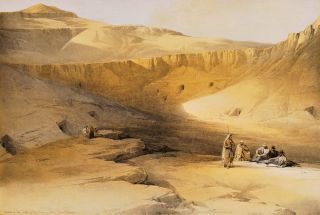 Entrance To The Tombs Of The Kings Of Thebes – Biban-El-Molook [Egypt]. David Roberts, British