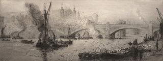 Southwark Bridge, London, England]. William Lionel Wyllie, British