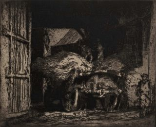 The Hay Cart. Sir Frank Brangwyn, British