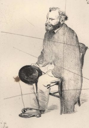 Manet Seated, Turned To The Left. Edgar Degas, French