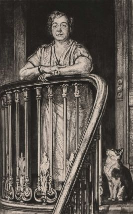 Mrs. Mack And Her Cat. Francis Dodd, British.