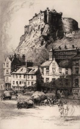 Edinburgh Castle From The Grassmarket. Albany E. Howarth, Brit