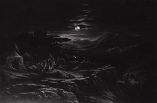 David Spareth Saul At Hachilah. John Martin, British.