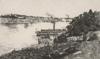 The Harbour From McMahon's Point. Sydney Ure Smith, Aust