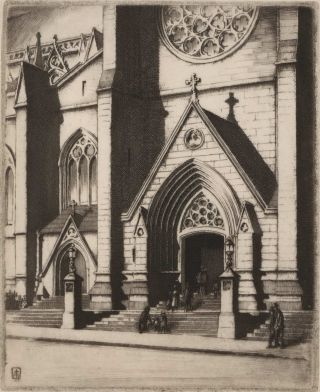 St. Mary's Cathedral Steps [NSW]. Edward Warner, Aust