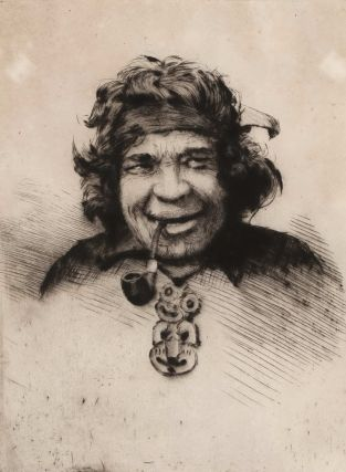 Collection of New Zealand landscapes, landmarks and bridges, including fanciful Maori portraits