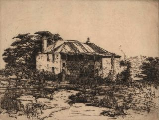 Old House Near Berry's Bay [Sydney, NSW]. Ella Dwyer, Aust.