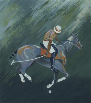 Polo Player I]. Margaret Early, b.1951 Aust