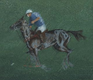 Polo Player II]. Margaret Early, b.1951 Aust