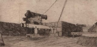 The One O'Clock Gun [Fort Denison, Sydney Harbour]. Bim Hilder, Australian