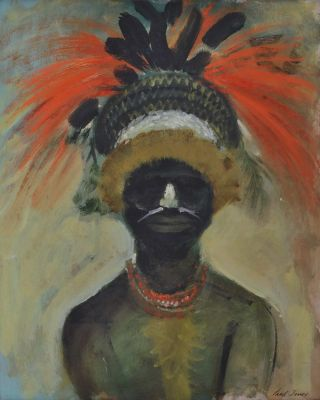 PNG Highland Native Portrait]. Paul Osbourne Jones, Aust