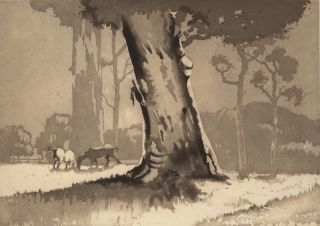 Bush Scene With Horses]. David Barker, Aust