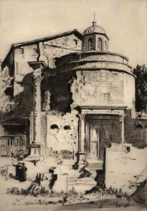 A Church In The Roman Forum. Lionel Lindsay, Aust.