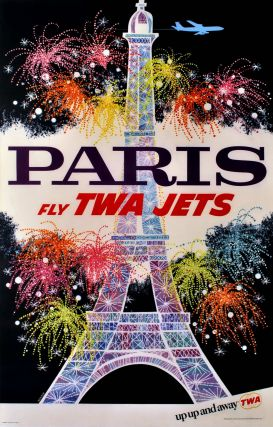 Paris. Fly TWA Jets. David Klein, American