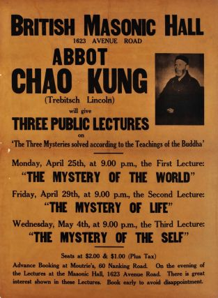 Abbot Chao Kung (Trebitsch Lincoln