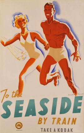 To The Seaside By Train. Gert Sellheim and Phelan, Australian.