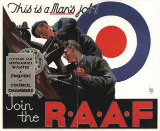 Fitters And Mechanics Wanted. Join The RAAF. Walter Jardine, Aust