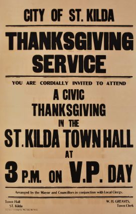 VP Day, Thanksgiving Service [St Kilda, Victoria