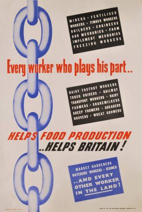 Every Worker Who Plays His Part Helps Food Production - Helps Britain!