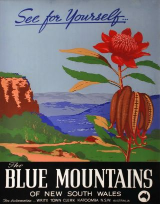 The Blue Mountains Of New South Wales. Henry Rousel, Australian