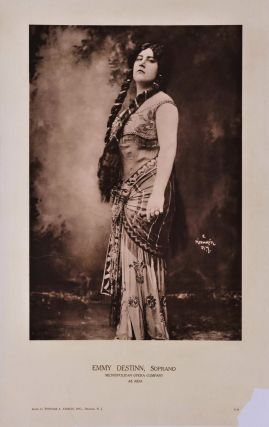 Emmy Destinn, Soprano, As Aida. Herman Mishkin, American.