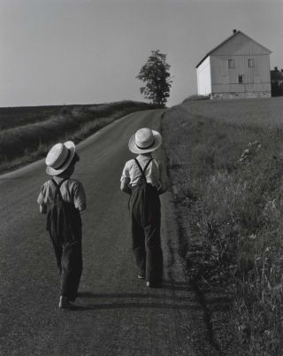 Two Amish Boys. George Tice, b.1938 American.