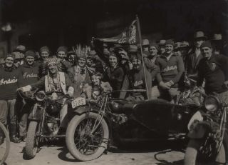 """Indian"" Motorcycle Club]. Sam Hood, Aust"